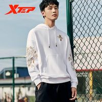 Xtep Jeremy Lin Men Sweater Autumn And Winter Dragon Round Neck Loose Trendy Pullove 880129050139