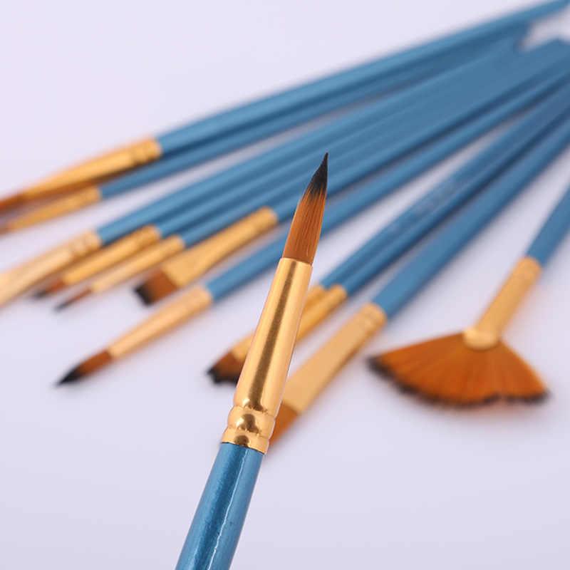 12 Pcs Della Pittura a Olio Pennello Acrilico Acquerello Pennello Multi-Modello di Capelli Misti Lint Principiante Pennello Set Rifornimenti di Arte