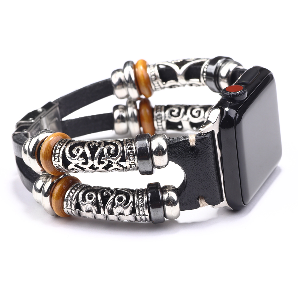 Attractive Leather Bracelet For Watch Band 38mm/40mm 42mm/44mm Series <font><b>5</b></font> <font><b>4</b></font> <font><b>3</b></font> 2 <font><b>1</b></font> Retro Watchband Strap For Watch Jewelry Gifts image