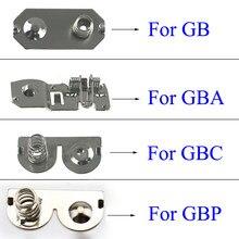 2 uds terminales de la batería contactos de resorte de la batería de reemplazo para Nintendo Game Boy Advance consola para GBP GBA GBC GB