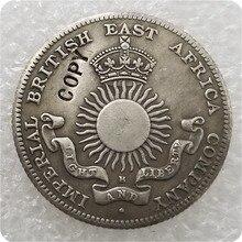 1890 Mombasa(имперская британская Восточная африканская компания) 1/2 Rupee IBEA Coinage имитация монеты