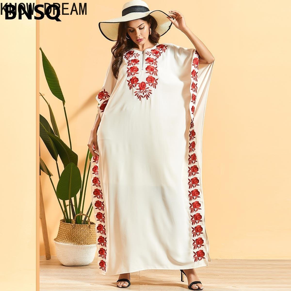 Узнайте мечта Мода размера плюс для женщин рукав «летучая мышь» вышитые плиссированное платье в богемном стиле темно-синий кружево платье ...