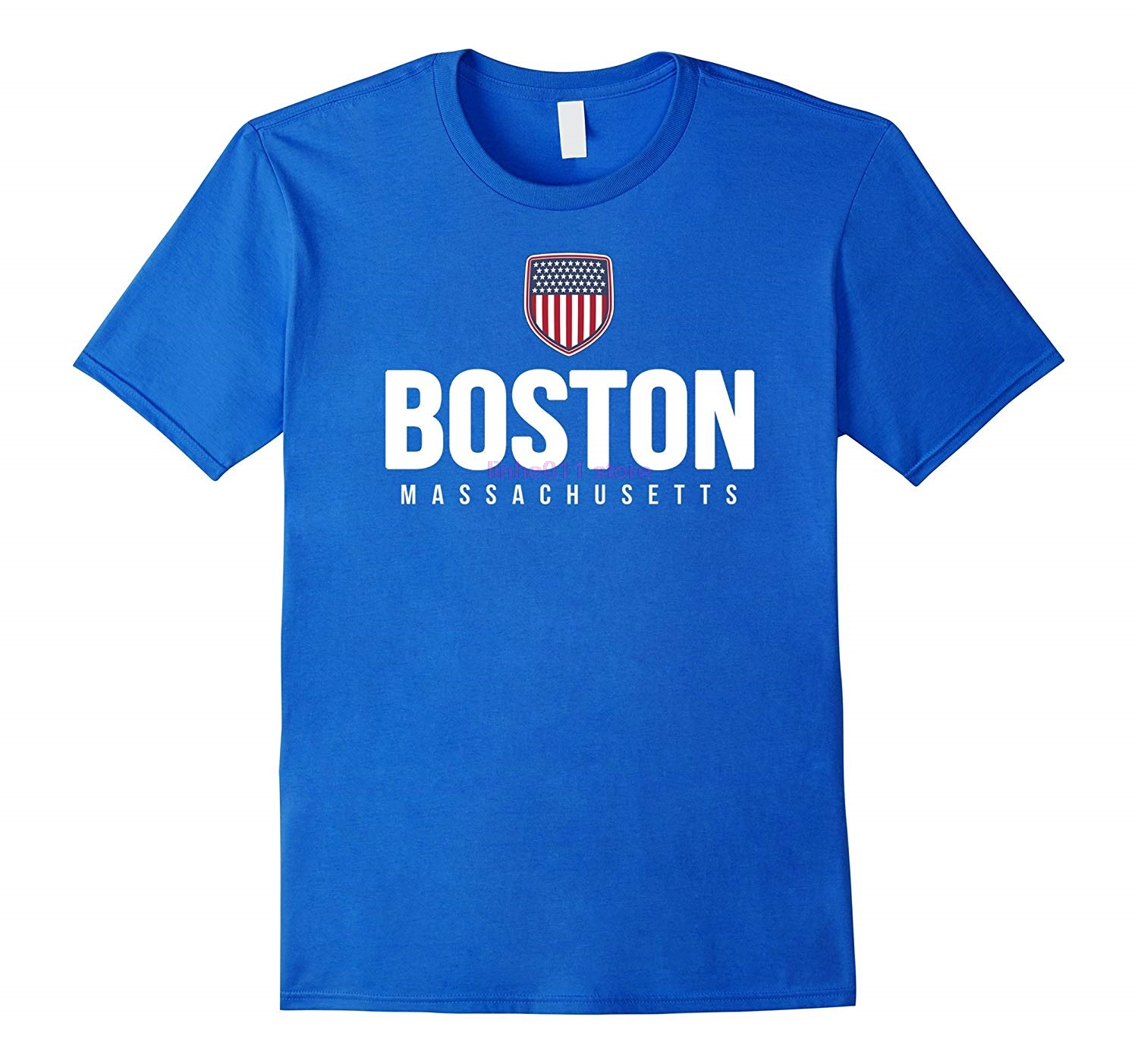 new men shirt Boston <font><b>Massachusetts</b></font> T shirt image