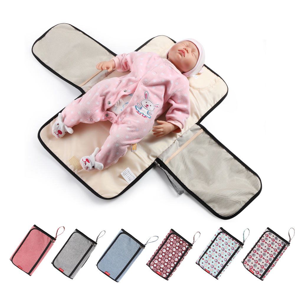 Portable Baby Changing Mat Waterproof Diaper Changing Table Pad Travel Mummy Dad Nappy Change Mat Clean Hand Folding Diaper Bag