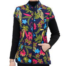 Chinese Style Women Quilted Vest Red Green Cap Sleeve Design Padded Warm Waistcoat Oriental Pattern Vintage Outerwear For Women vintage floral pattern velveteen panel waistcoat