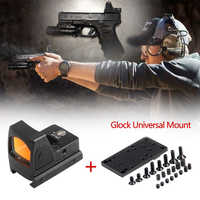 Mini RMR Red Dot Sight Collimator Scope Reflex Sight Scope With Glock Universal Mount Airsoft Hunting Rifle Optical Sight