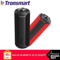 Tronsmart T6 Plus (Upgraded Edition) Bluetooth 5.0 Speaker 40W Portable TWS Speaker IPX6 Column with NFC,TF Card,USB Flash Drive