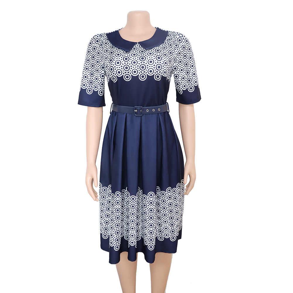 Африканская женская одежда 2019 зимнее новое платье в горошек с волнистым принтом