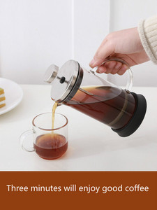 Image 2 - Franse Druk Pot Koffie Hand Brouwen Pot Set Thuis Brouwen Koffie Filter Apparaat Melkopschuimer Thee Maker Koffie Filter Cup