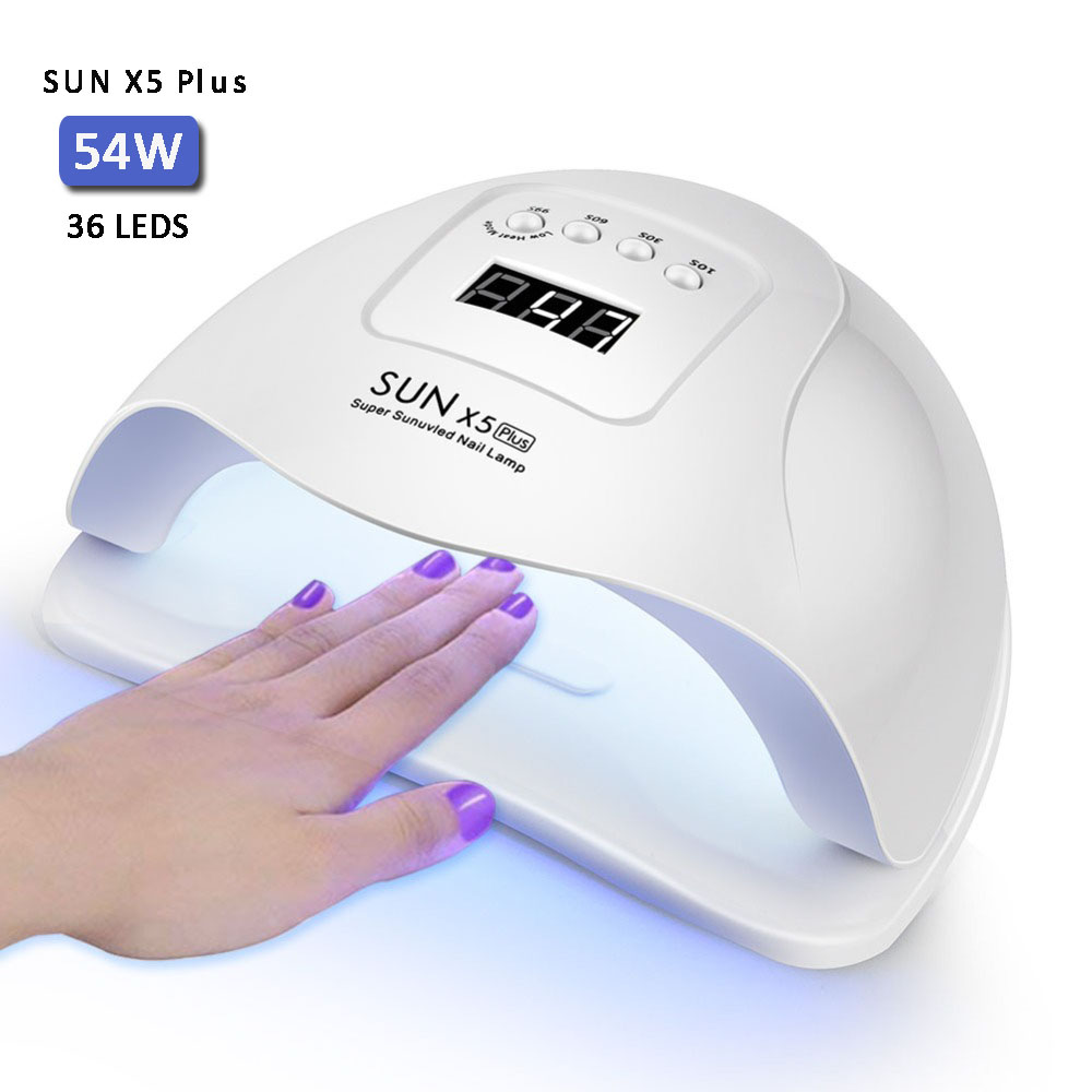 54W Nail Lamp UV Lamp Nail Dryer With 36 Pcs Light Bead Fast Curing All Kinds Of UV Gel Nail Polish With Timer And Smart Sensor