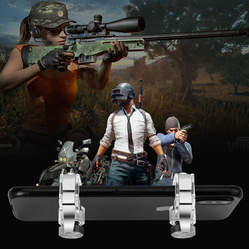 R11S Metal PUBG Mobile Trigger Gamepad Gaming L1R1 <font><b>Shooter</b></font> Pubg Mobile Controller Smart Phone Fire Button Aim Key Joystick image
