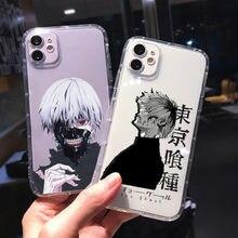 Funda de teléfono Suave y transparente a prueba de golpes para IPhone, protector a prueba de golpes para IPhone XR X XS 12 11 Pro Max 7 8 6 6S Plus SE2 Japón Anime Tokyo Ghoul Suave
