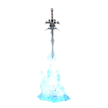 Light WOW Modle World Of Warcraft Figure COS Animation Warcraft Lich King Arthas Weapons Cream Of Mourning Sword Collect Gift 1