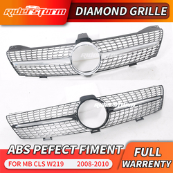 Chroom/Zwart W219 Diamant Grill Auto Voorbumper Grille Grill Voor Mercedes Benz W219 CLS500 CLS600 Cls W219 2008-2010