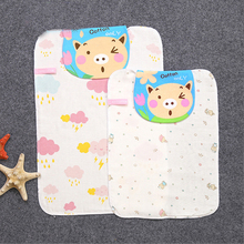 Cartoon cotton childrens back towel four layers of gauze baby sweat outdoor sports