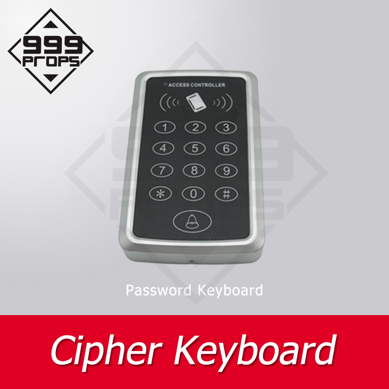 999 PROPS Room Escape Cipher Keyboard Enter Correct Password To Unlock Or Also Can Use IC Card Trigger Chamber Room