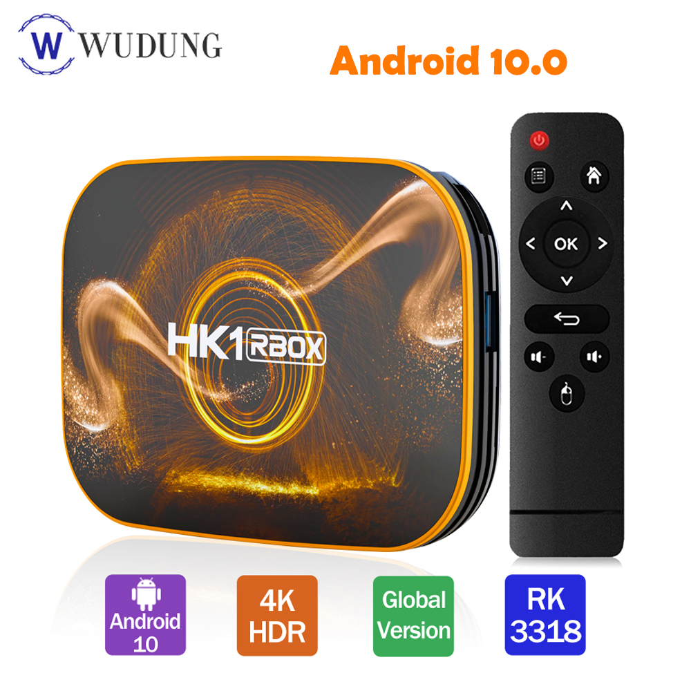 Newest HK1 RBOX R1 Smart TV Box Android 10 4GB 128GB Rockchip RK3318 1080P H.265 4K Media Player USB3.0 Youtube  Set Top Box