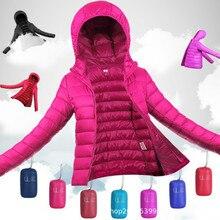 2019 New 27 colors Spring Parka Jacket Coat Warm Ultra Light Duck Down Padded Jacke Female Overcoat Slim Solid Womens