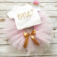 Vestido de fiesta de cumpleaños para niña recién nacida, vestido de bautizo, pelele + vestido de tutú + diadema, ropa para niña pequeña de 1 año