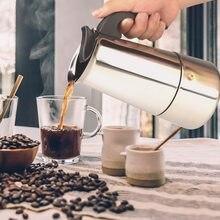 Hervidor de agua de acero inoxidable, cafetera portátil Espresso Pro Barista, 100ml/200ml/300ml/450ml
