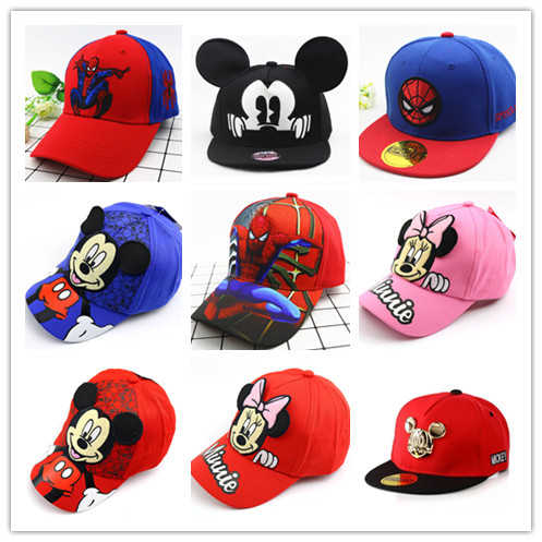 Kid Boys Girls Mickey Minnie Mouse Baseball Cap Outdoor Cartoon Snapback Sun Hat