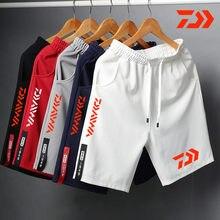 Daiwa calções de pesca respirável para homens multi-bolso secagem rápida roupas de pesca shorts longos calças de pesca cintura elástica verão