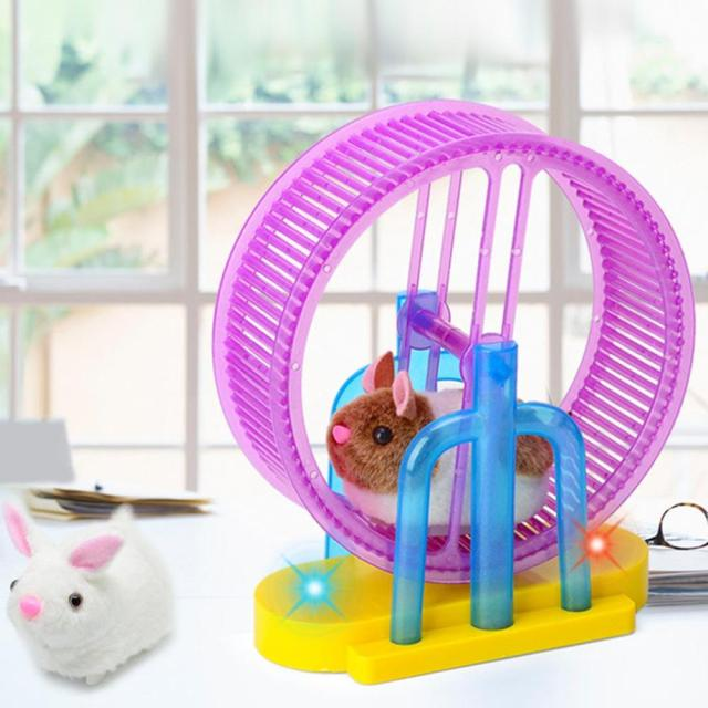 Hamster Roller Electric Toy Led Light Plush Hamster Runner Running Cage Ball New Strange Led Light Music Hamster Wheel 2