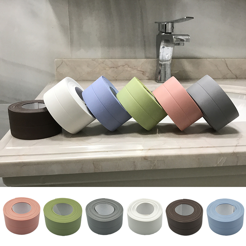3.8cmx3.2m Waterproof Mildewproof Self Adhesive Tape For Home Bathroom Bathtub Kitchen PVC Wall Stickers Strip Sealant Tape