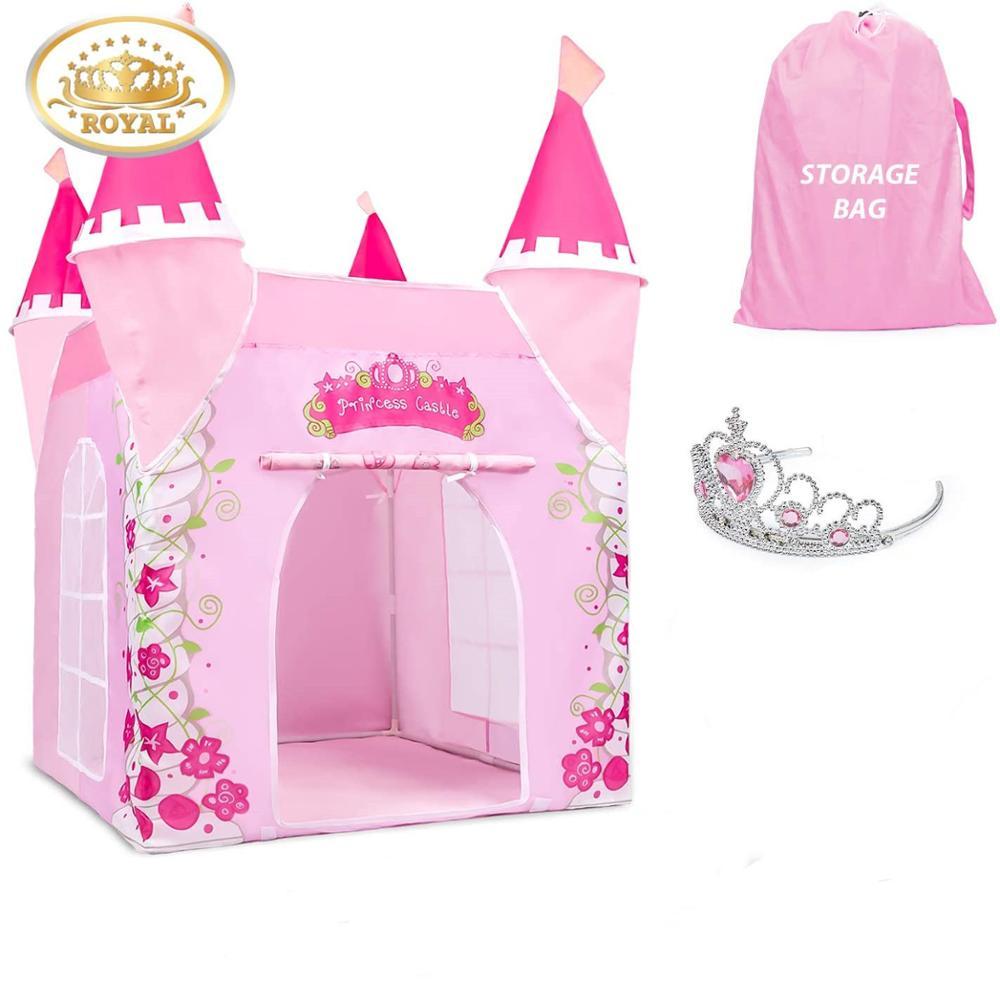Детские игрушки палатки Принцесса замок играть палатка девочка принцесса играть дом Крытый открытый дети дома играть мяч Яма бассейн игров...