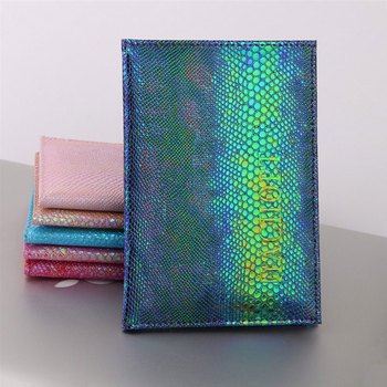 цена на Glitter Colorful Passport Cover Waterproof Passport Holder Travel Cover Case Passport Holder Passport Packet Gifts