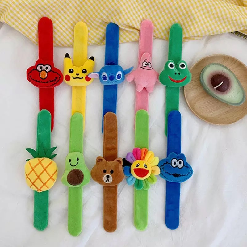 Cute Cartoon Creative Plush Patted <font><b>Ring</b></font> <font><b>Bracelet</b></font> Sunflower Strap Band for Children Boys Girls Students Watch Toy Party Favors image