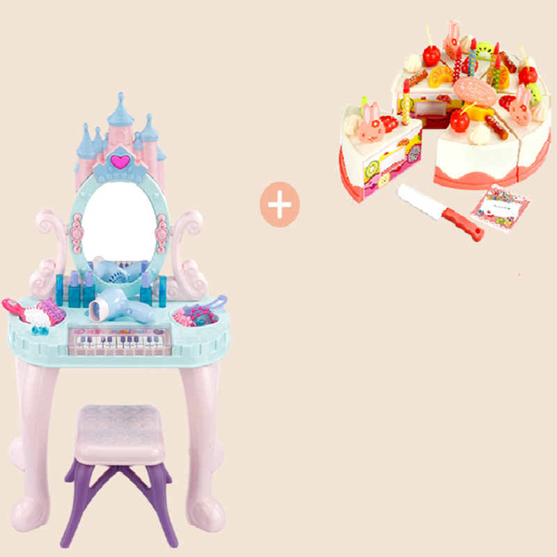 Children's Toys Girls Pass Home Dresser Makeup Table Princess Makeup Box Girl Toys 3 Times 6 Years Old