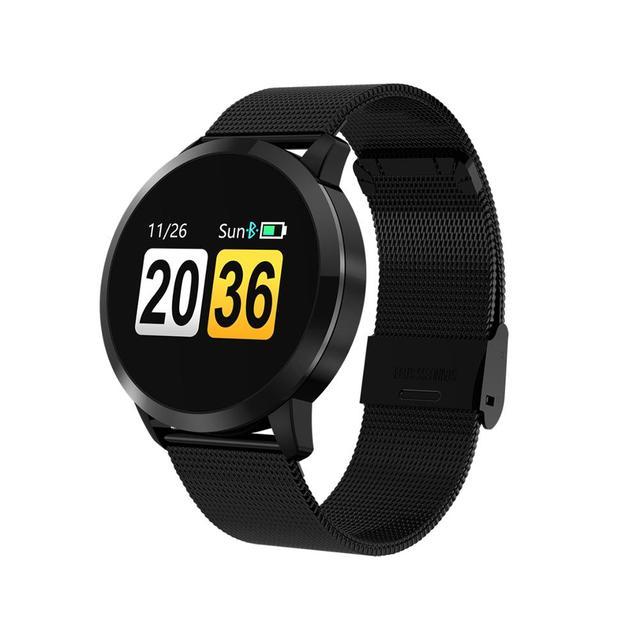 Upgrade BELOONG Q8 Rose Gold Smart Watch Fashion Electronics Men Women Waterproof Sport Tracker Fitness Bracelet Smartwatch