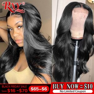 250 Density Lace Wig 4x4 Closure Wig Lace Closure Human Hair Wigs Body Wave Closure Wig Human Hair Wigs RXY Remy Brazilian Hair