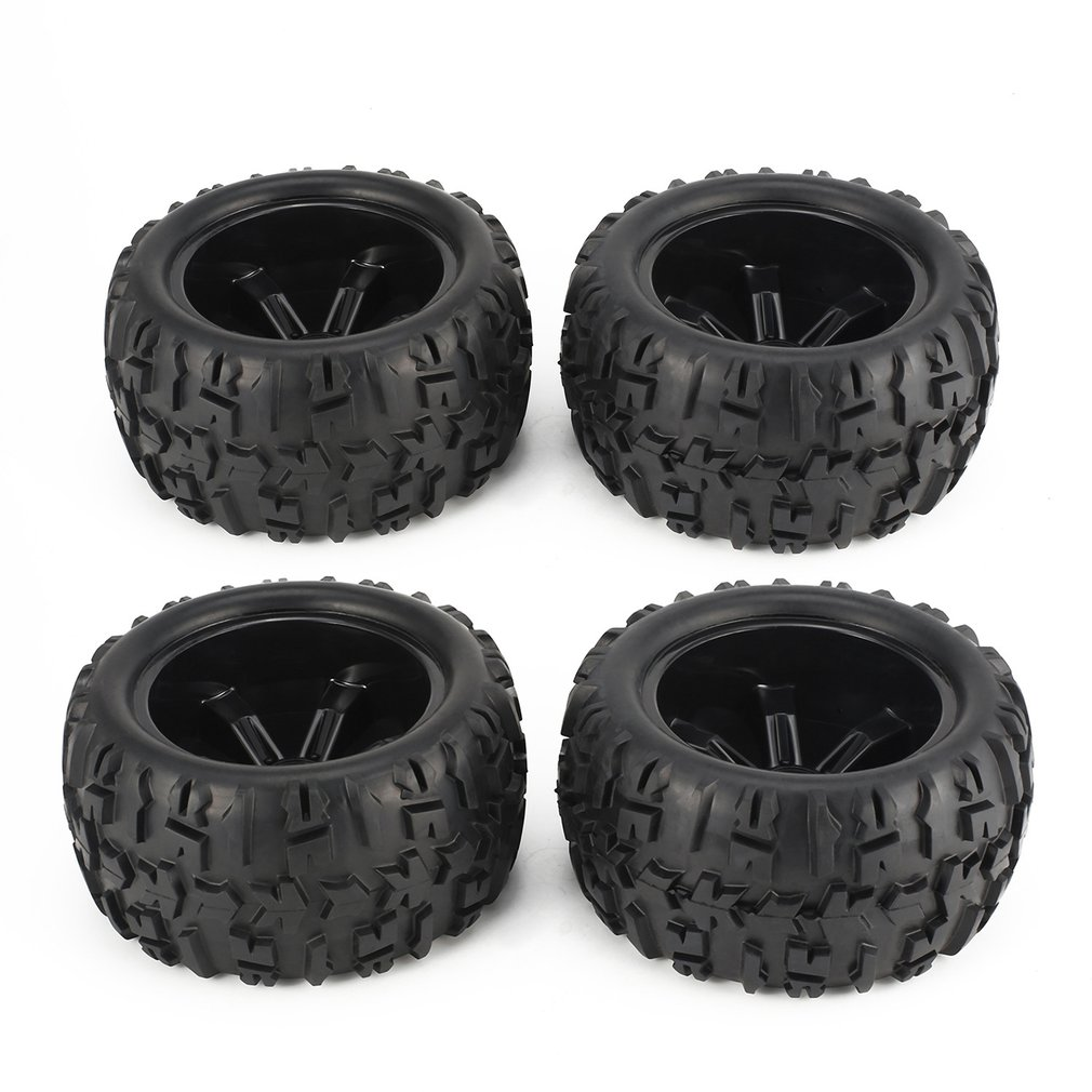 2Pcs 150mm <font><b>Wheel</b></font> Rim and Tires for 1/8 Monster Truck Traxxas HSP HPI E-MAXX Savage Flux Racing <font><b>RC</b></font> Car Accessories image