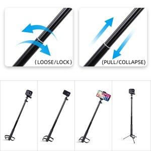 Image 4 - 36 zoll Aluminium Selfie Stick Einbeinstativ für GoPro Hero 9 8 7 6 Gehen pro 5 Schwarz Sitzung Xiaomi Yi 4K Sjcam sj7 Sj4000 Action Kamera