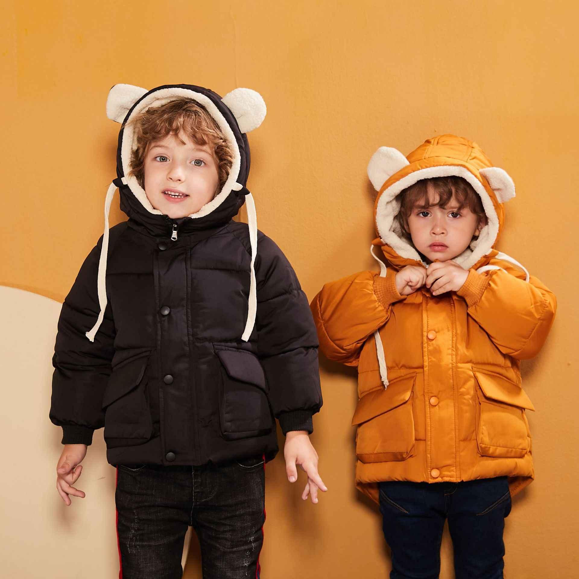 Oeak 2020 חורף חם מעילי תינוק בנות בגדי ילדי מעילי כותנה ברדס להאריך ימים יותר מעיל בני בנות בגדים