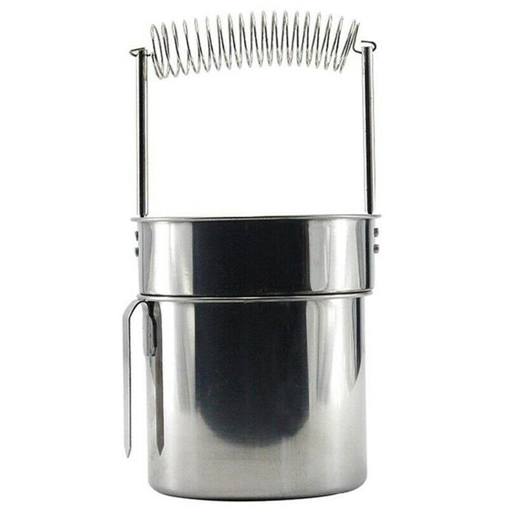 Oil Painting Brush Washing Bucket Wash Pen Barrel Stainless Steel Double Laye Paint Brush Washer School Students Art Supplies