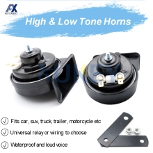 410/510Hz Dual Pitch Universal Snail Horn With Relay Wiring Harness 12V 110-125db Loud Waterproof For Car Motorcycle Truck Van