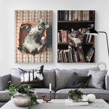 Nordic Style Animal Cartoon Modern Northern Europe Sitting Room Canvas Painting Decorates Picture Of To Hang