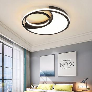 Lampy sufitowe światła sufit sypialnia światła Led do sufitu Led Cealing lampy nowoczesne powierzchni lampy sufitowe ściemniania dla pokoje tanie i dobre opinie OLOEY CN (pochodzenie) Metrów 5-10square Kuchnia Jadalnia Łóżko pokój Foyer Badania Łazienka 90-260 v Klin Black Pokrętło przełącznika