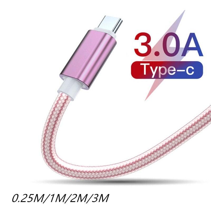 Кабель с разъемом USB типа C для быстрой зарядки кабель для Samsung Galaxy S20 + S10 S10e S9 S8 Plus Note 9 8 A70 A60 A80 A40 A50 7A 8A 9 10 Pro 10X Pro