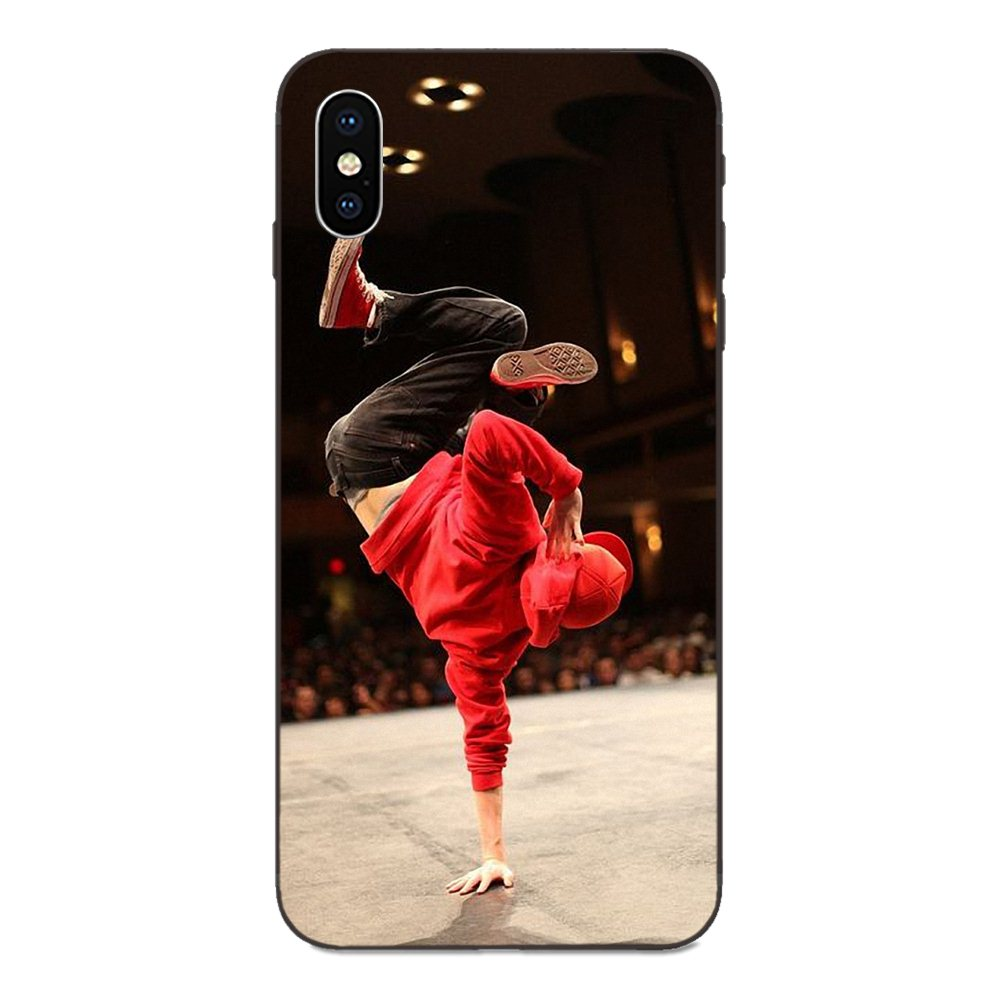 Hot Break Dancing Breaking Hip Hop For Apple iPhone X XS Max XR 4 4S 5 5S SE 6 6S 7 8 Plus Diy Luxury Protector Phone Case