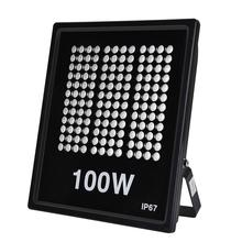 100W Rectangular Spotlight Projector Flood Light IP67 220V LED Refletor Outdoor Lighting Garden Lamp