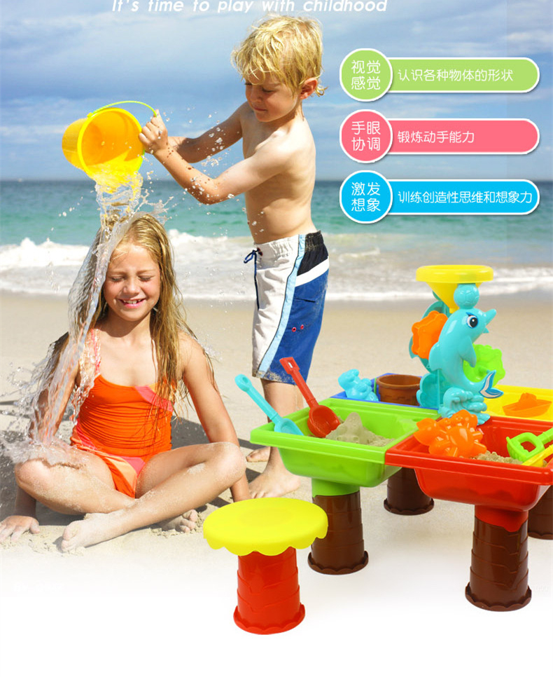 Beach Pools Water & Sand 2 In 1 Tables Play Set Toys For Kids Swimming Summer Sandbox Step2 Toddler Boy Girl Outdoor Sports Fun