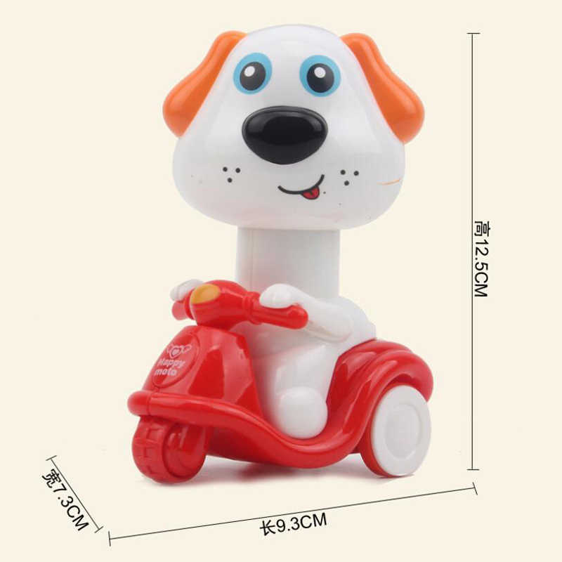 Animal Cão Pato Dos Desenhos Animados Puxar Para Trás Carros De Plástico Rodas de Imprensa Mini Modelo de Carro Bonito Funny Kids Brinquedos Educativos para Meninos meninas