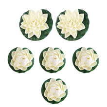 Ornament Pool-Decor Floating-Flower Tank-Plant-Leaf Lotus-Leaves Water-Lily Pond Garden