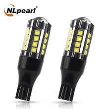 Nlpearl 2x lâmpada de sinal t15 w16w wy16w led canbus luz freio do carro 23smd 3030 chip w16w led 921 912 luzes backup reverso automático 12v