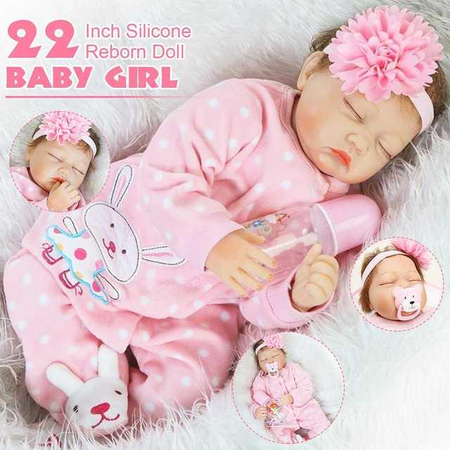 Reborn toddler girl doll toy waterproof