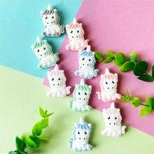 10 pçs unicórnio silicone contas de bebê pérola dos desenhos animados animal diy chupeta manequim sensorial jóias presente brinquedo acessórios dentição